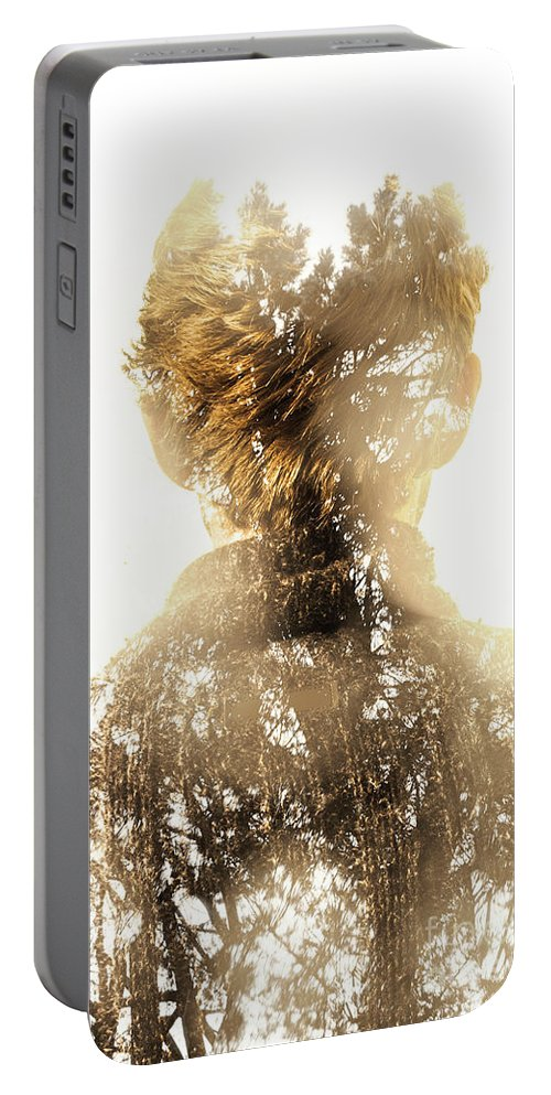 Spiritual Portable Battery Charger featuring the photograph Finding Spirit Within by Jorgo Photography - Wall Art Gallery