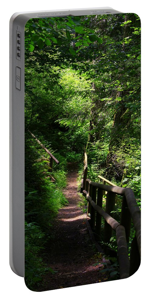 Finding The Right Path Portable Battery Charger featuring the photograph Finding The Right Path by Jeanette C Landstrom