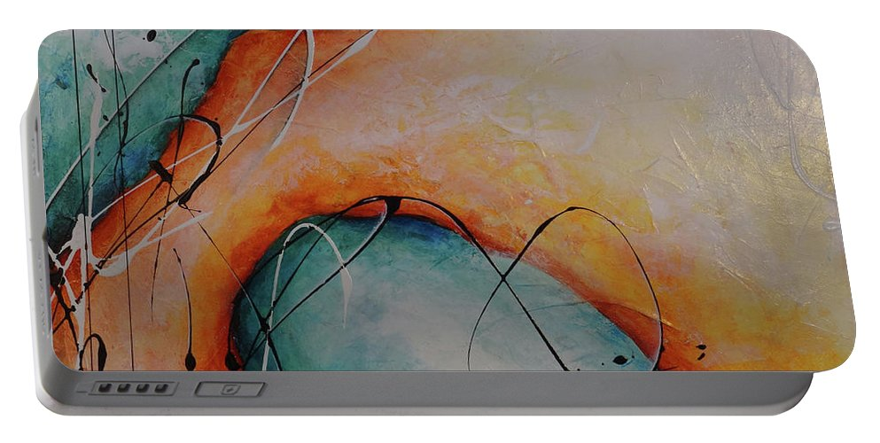 Art Portable Battery Charger featuring the painting Finding You by Bradley Carter