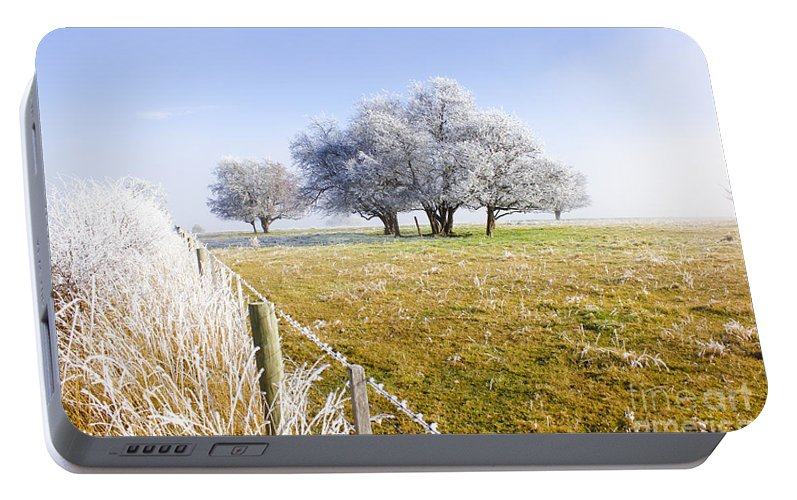 Artistic Portable Battery Charger featuring the photograph Fine Art Winter Scene by Jorgo Photography - Wall Art Gallery