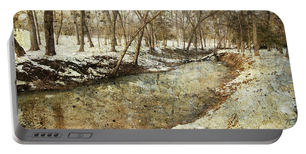 Portable Battery Charger featuring the photograph Fine Creek Winter by Guy Crittenden