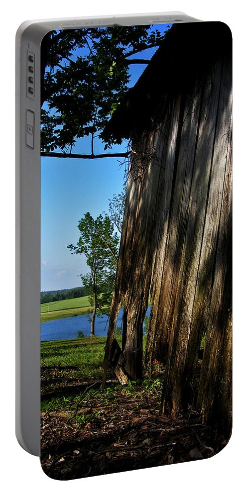 Landscape Portable Battery Charger featuring the photograph Fine Woodwork by Rachel Christine Nowicki