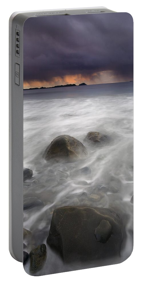 Storm Portable Battery Charger featuring the photograph Fingers Of The Storm by Mike Dawson