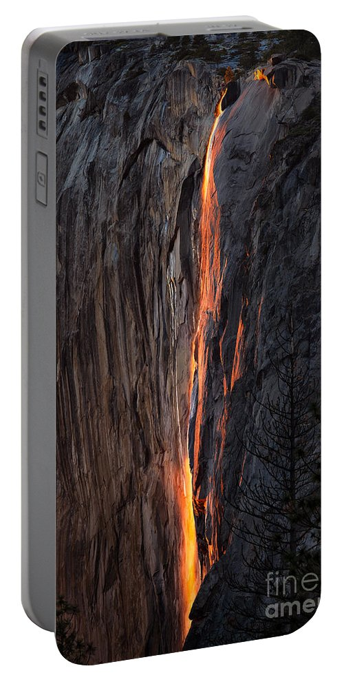 Yosemite Portable Battery Charger featuring the photograph Fire Fall by Anthony Bonafede