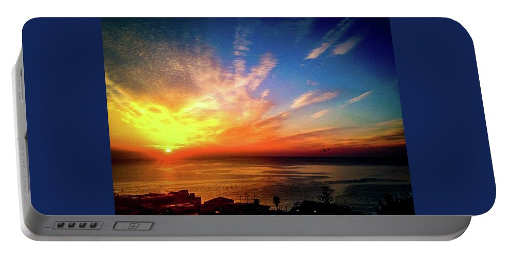 Sunrise Portable Battery Charger featuring the photograph Fire Heart by Larkin's Balcony Photography