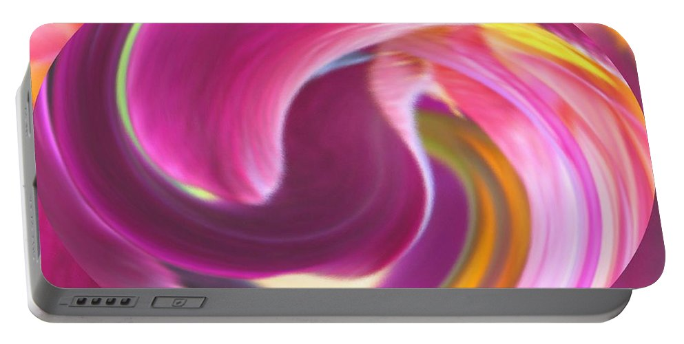 Purple Portable Battery Charger featuring the digital art Fire In My Soul by Ian MacDonald