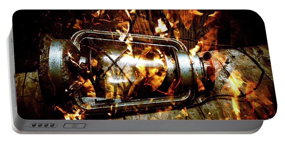 Lantern Portable Battery Charger featuring the photograph Fire In The Hen House by Jorgo Photography - Wall Art Gallery