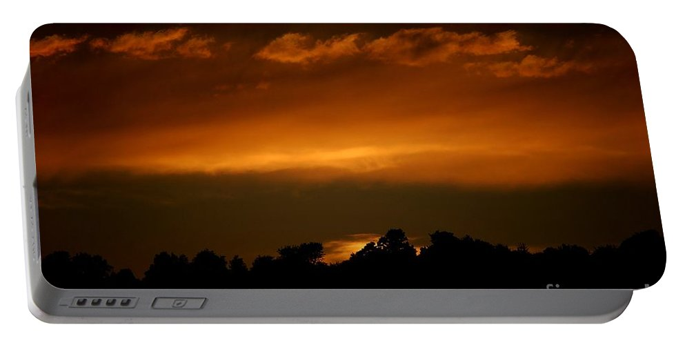 Digital Photo Portable Battery Charger featuring the photograph Fire In The Sky by David Lane