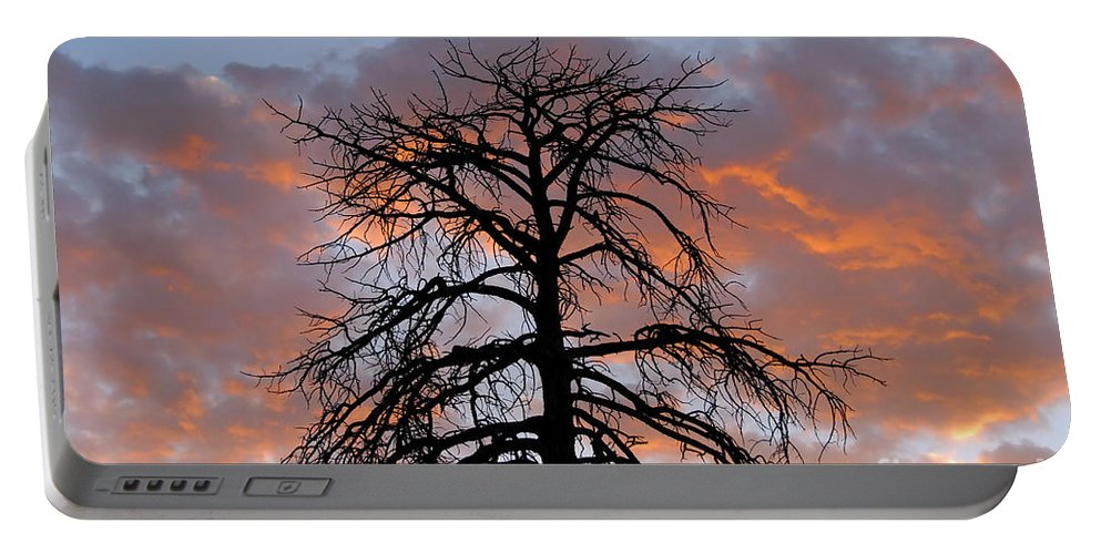 Fire Portable Battery Charger featuring the photograph Fire In The Sky by David Lee Thompson