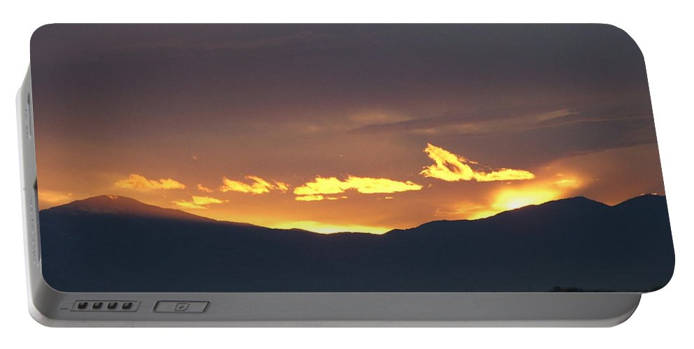 Sunset Portable Battery Charger featuring the photograph Fire In The Sky by Shari Chavira