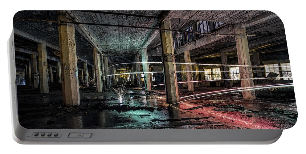 Sony Portable Battery Charger featuring the photograph Fire Over Ice by Steven K Sembach