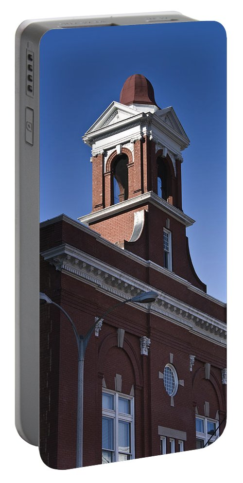 Roanoke Portable Battery Charger featuring the photograph Fire Station No 1 Roanoke Virginia by Teresa Mucha
