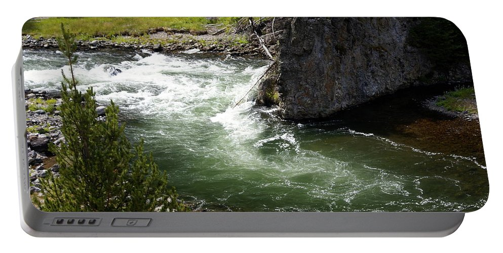 Yellowstone National Park Portable Battery Charger featuring the photograph Firehole Canyon 1 by Marty Koch
