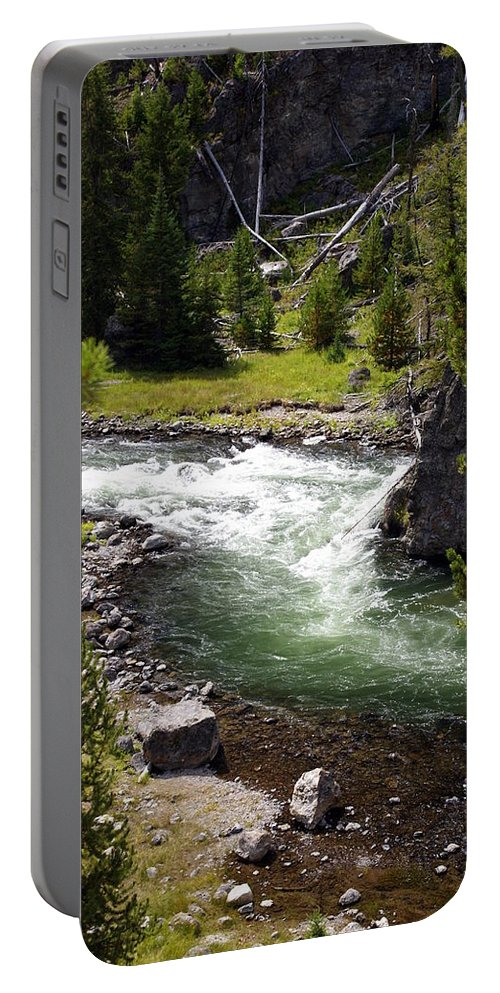 Yellowstone National Park Portable Battery Charger featuring the photograph Firehole Canyon 2 by Marty Koch