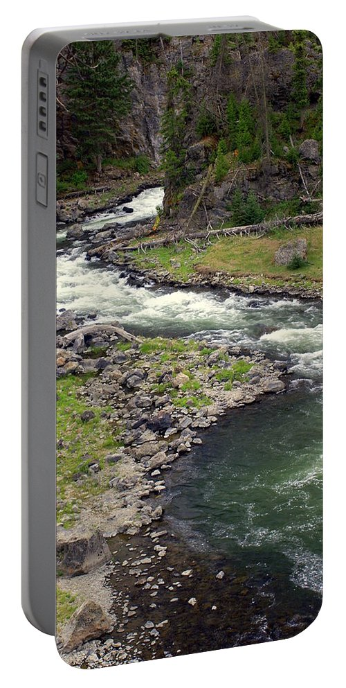 Firehole River Portable Battery Charger featuring the photograph Firehole River 2 by Marty Koch