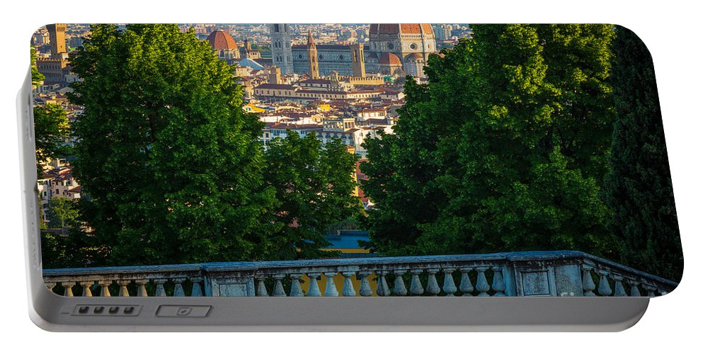 Europe Portable Battery Charger featuring the photograph Firenze Vista by Inge Johnsson