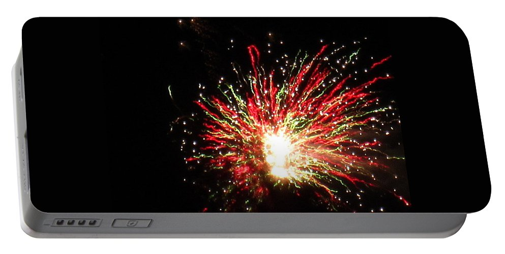 Fireworks Portable Battery Charger featuring the photograph Firework Christmas Sparkle by Adrienne Wilson