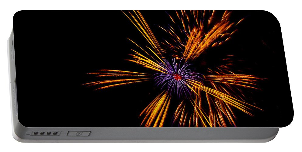 Firework Portable Battery Charger featuring the photograph Firework Fun by Dawn OConnor