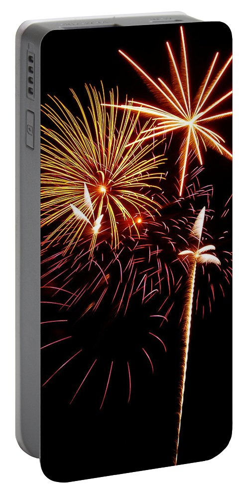 Fireworks Portable Battery Charger featuring the photograph Fireworks 1 by Michael Peychich