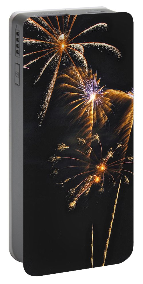 Fireworks Portable Battery Charger featuring the photograph Fireworks 3 by Michael Peychich