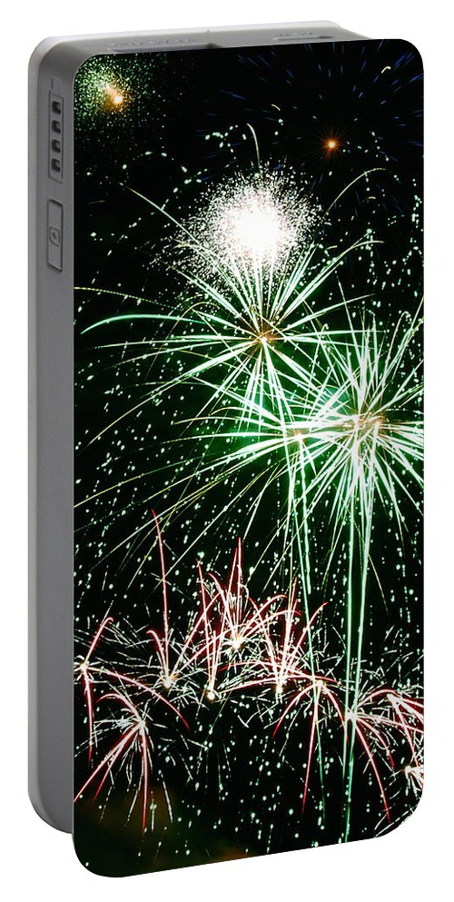 Fireworks Portable Battery Charger featuring the photograph Fireworks 4 by Michael Peychich