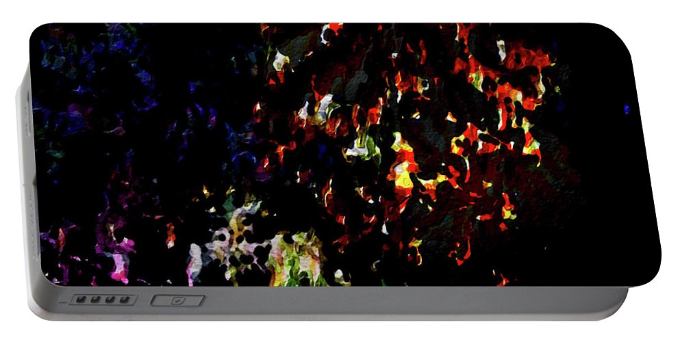 Fireworks Portable Battery Charger featuring the painting Fireworks 5 by Joan Reese