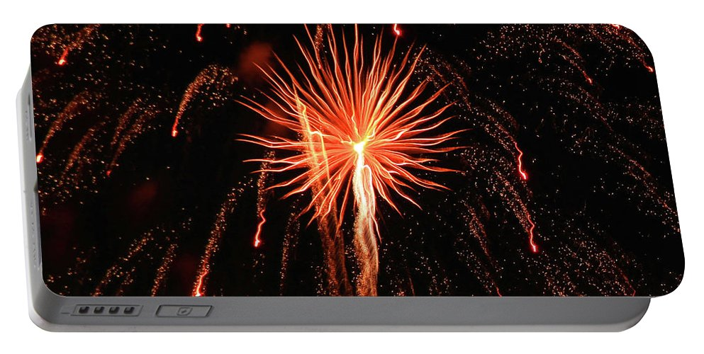 Fireworks Portable Battery Charger featuring the photograph Fireworks Eighteen by Krista Kulas