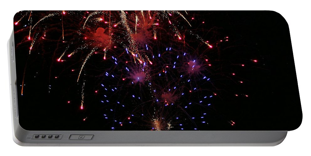 Fireworks Portable Battery Charger featuring the photograph Fireworks by Kristin Elmquist