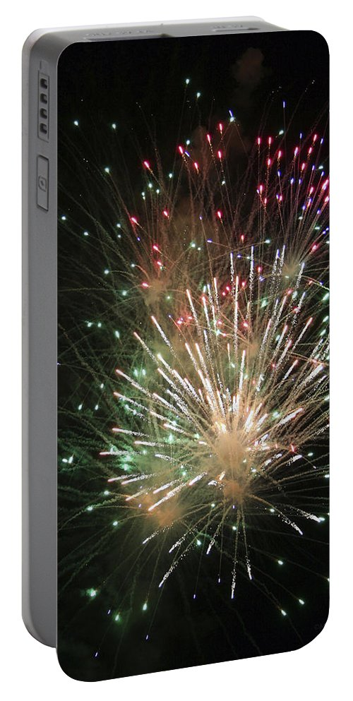 Fireworks Portable Battery Charger featuring the photograph Fireworks by Margie Wildblood
