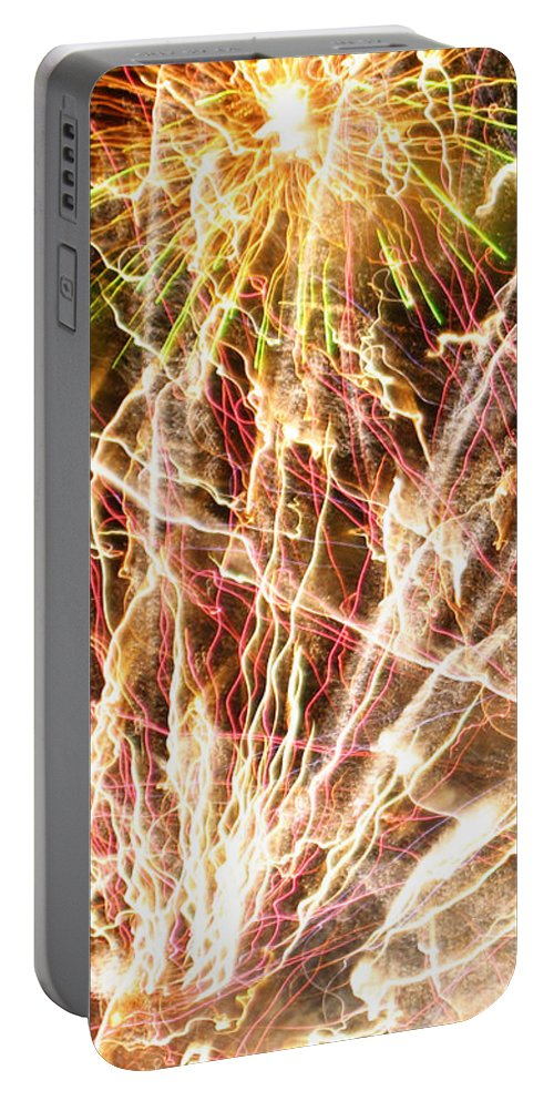 Firework Portable Battery Charger featuring the photograph Fireworks by Oliver Johnston