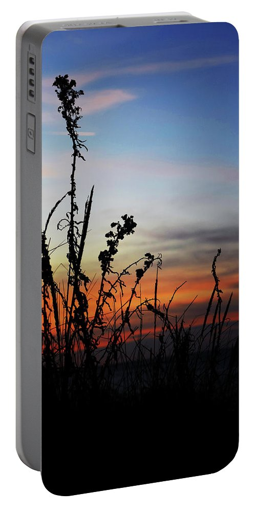 Sunset Portable Battery Charger featuring the photograph First Landing Sunset by Sarah Scullion