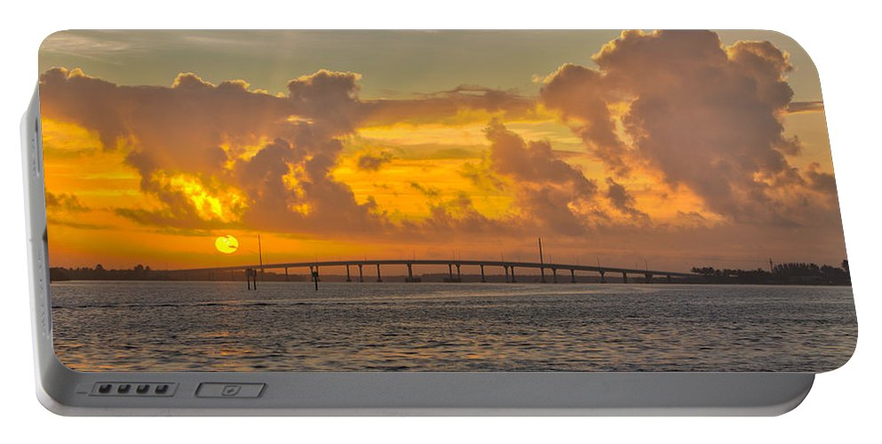 Landscape Portable Battery Charger featuring the photograph First Sunrise 2016 by Joey Waves