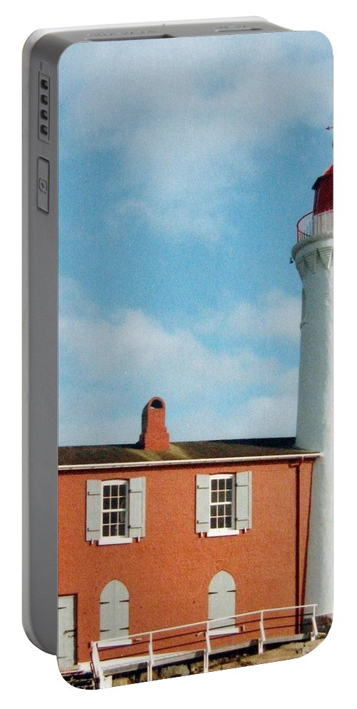 Fisgard Lighthouse Portable Battery Charger featuring the photograph Fisgard Lighthouse by Will Borden