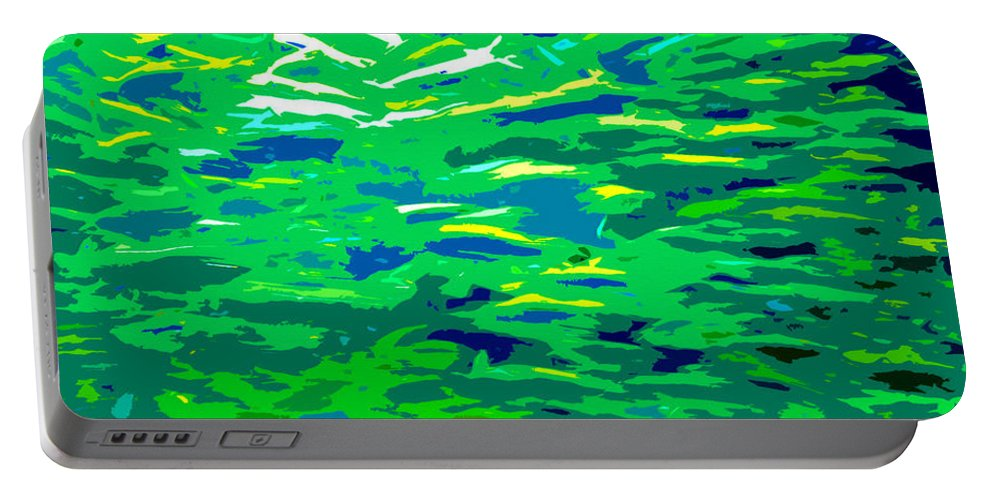 Art Portable Battery Charger featuring the painting Fish In The Sea by David Lee Thompson
