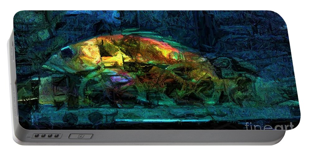 Fish Portable Battery Charger featuring the digital art Fish Wheels by Ron Bissett