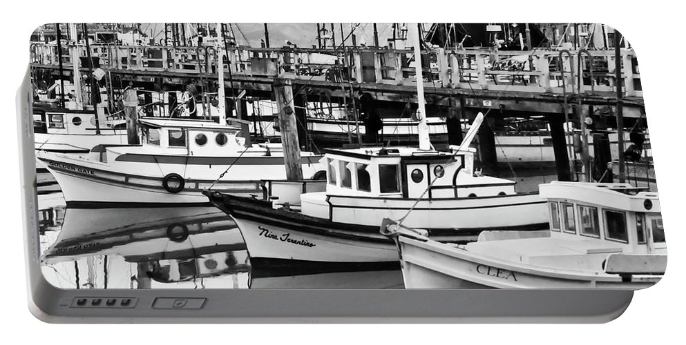 Fishermans Wharf Portable Battery Charger featuring the photograph Fishermans Wharf by Mick Burkey