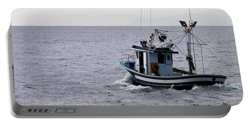 Valasretki Portable Battery Charger featuring the photograph Fishermen by Jouko Lehto