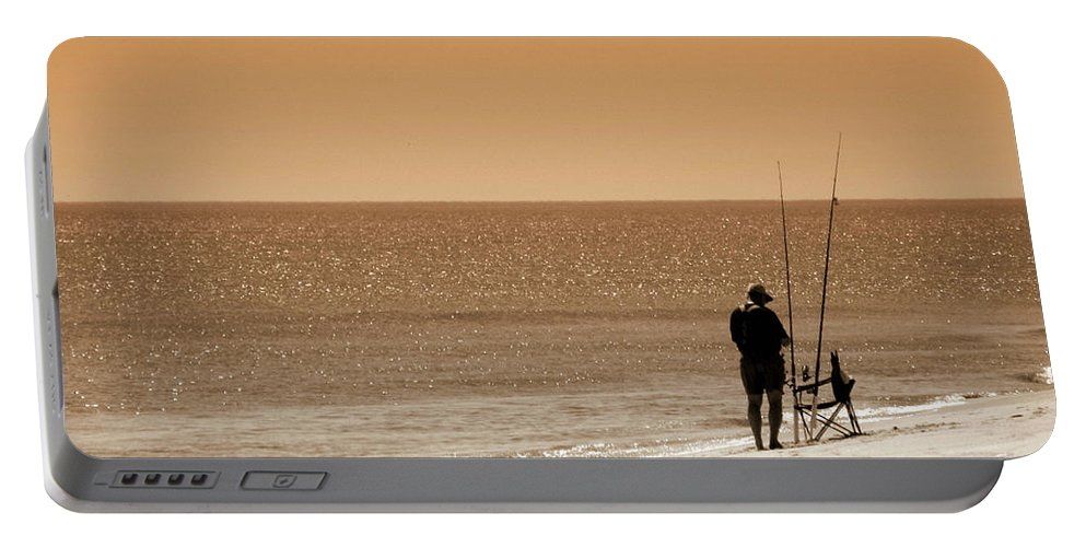 Man Portable Battery Charger featuring the photograph Fishermen Relax by Trish Tritz