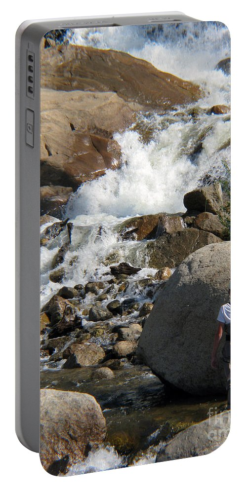 Fishing Portable Battery Charger featuring the photograph Fishing Anyone by Amanda Barcon