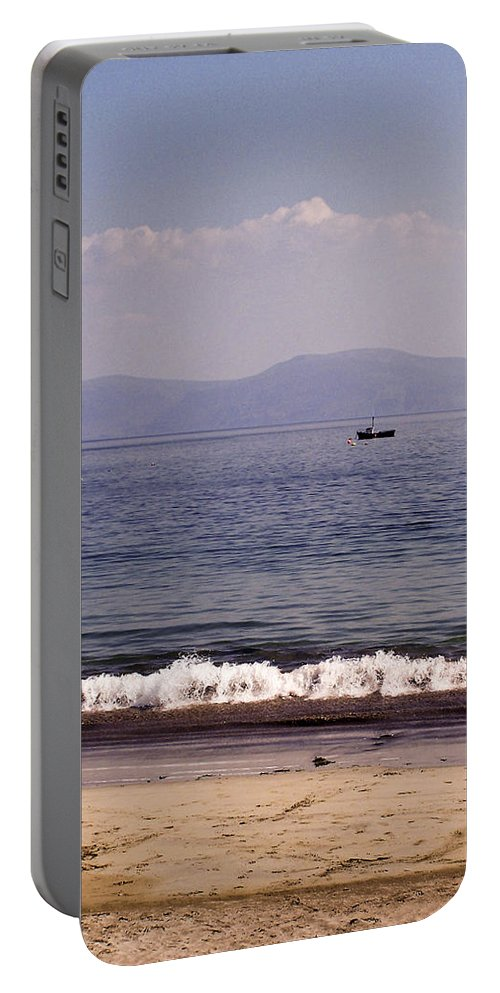 Irish Portable Battery Charger featuring the photograph Fishing Boat On Ventry Harbor Ireland by Teresa Mucha