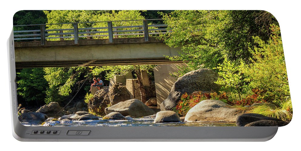 Fishing Portable Battery Charger featuring the photograph Fishing In Deer Creek by James Eddy