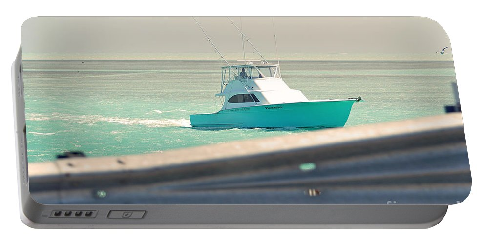 Key West Florida Portable Battery Charger featuring the photograph Fishing On The Sea by Davids Digits