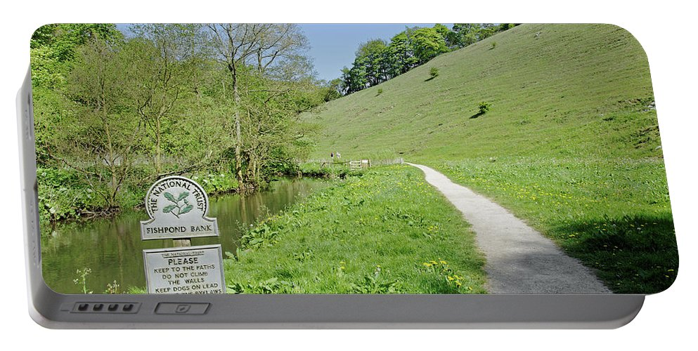 Europe Portable Battery Charger featuring the photograph Fishpond Bank At Wolfscote Dale by Rod Johnson