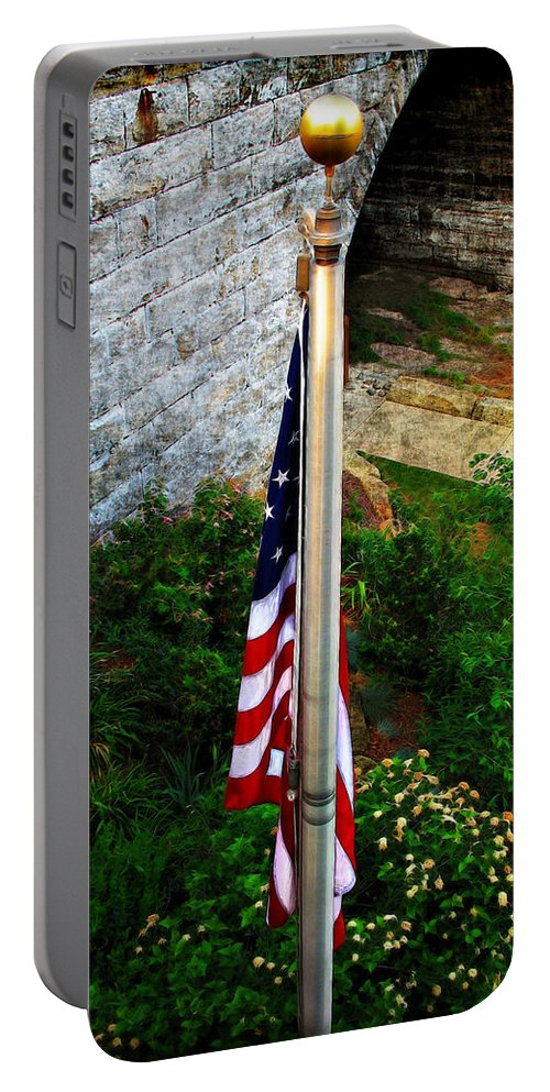 America Portable Battery Charger featuring the photograph Flag Day by Joan Minchak