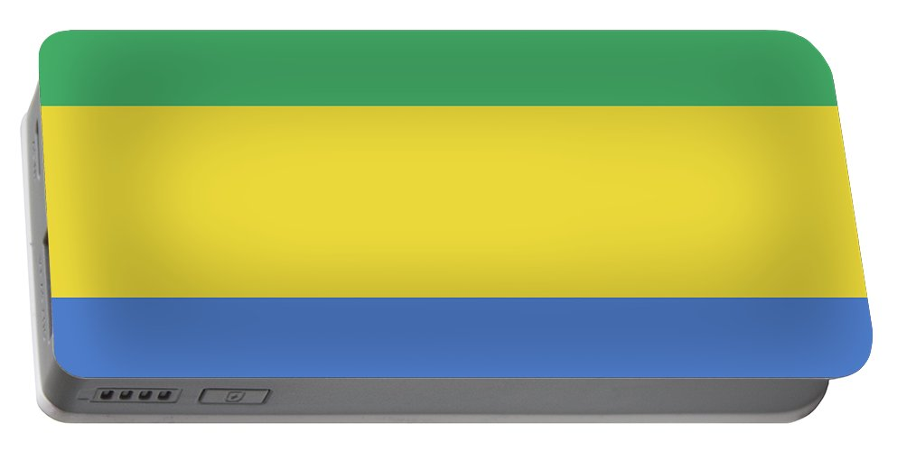 Africa Portable Battery Charger featuring the digital art Flag Of Gabon by Roy Pedersen