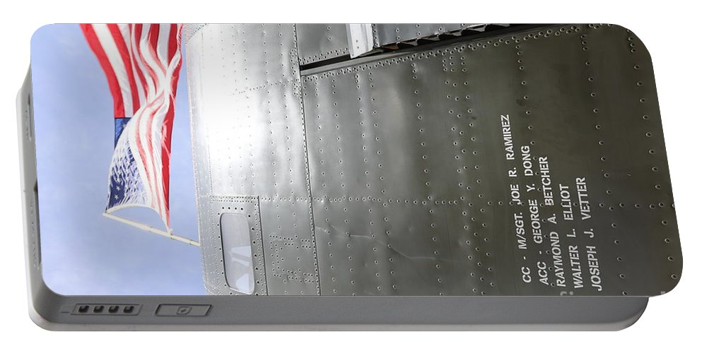 Wwii Portable Battery Charger featuring the photograph Flag Wwii Aircraft by Chuck Kuhn