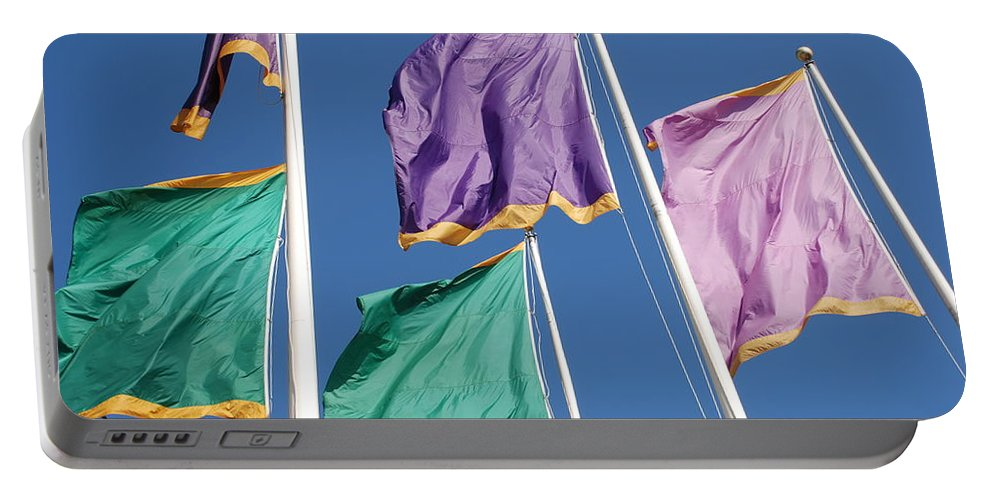 Flags Portable Battery Charger featuring the photograph Flags by Rob Hans