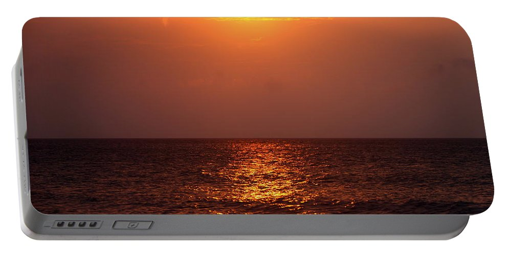 Sunrise Portable Battery Charger featuring the photograph Flaming Sunrise by Nadine Rippelmeyer