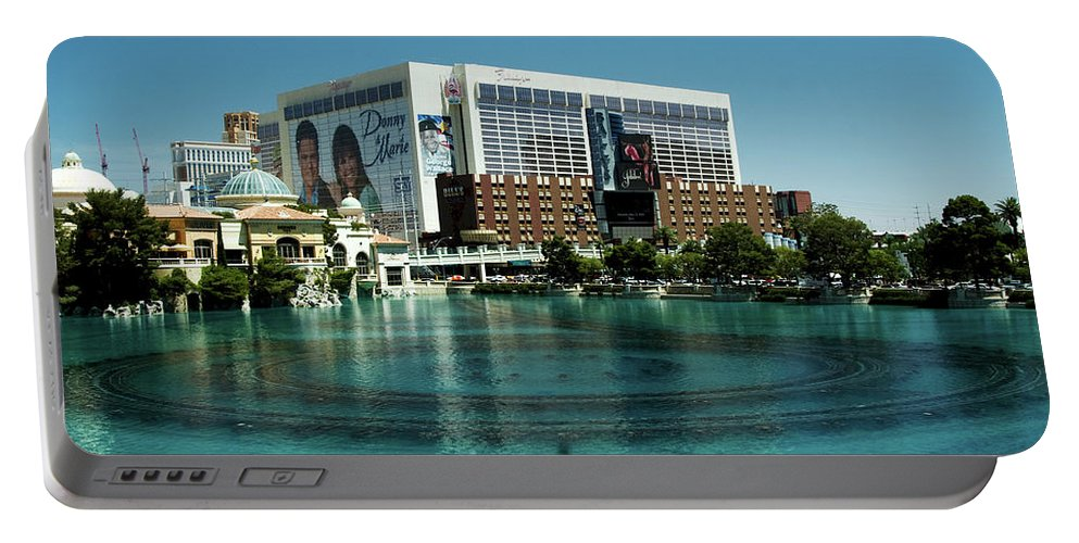 Casino Portable Battery Charger featuring the photograph Flamingo Casino/hotel by Keith Birmingham