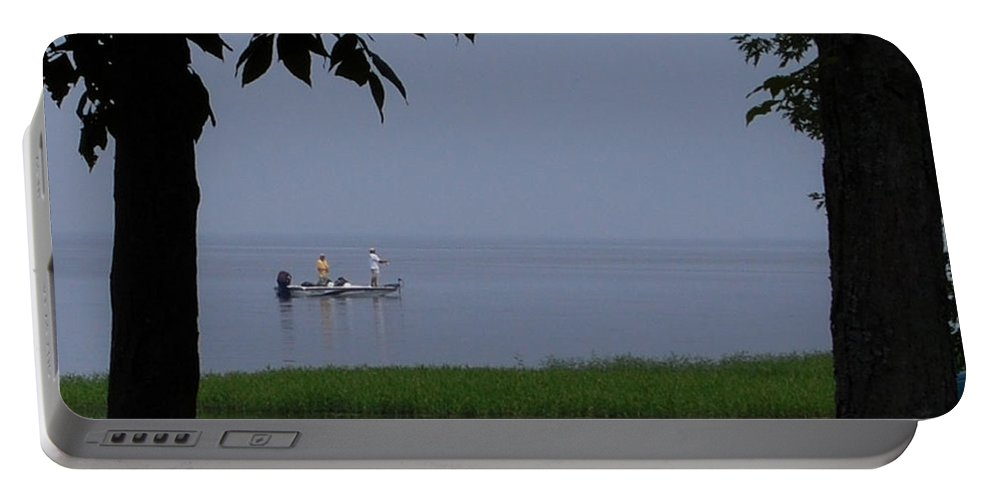 Fishing Portable Battery Charger featuring the photograph Flat Water Fishing by Lisa Kane